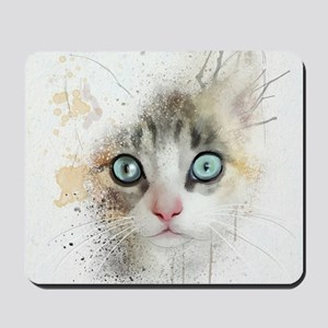 Kitten Painting Mousepad