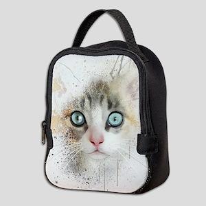 Kitten Painting Neoprene Lunch Bag