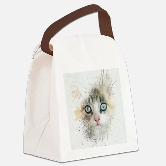 Kitten Painting Canvas Lunch Bag