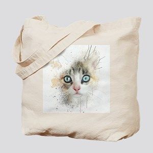 Kitten Painting Tote Bag