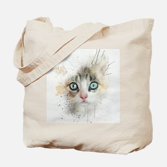 Kitten Painting Tote Bag