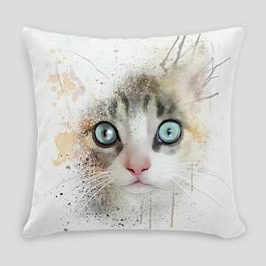 Kitten Painting Everyday Pillow