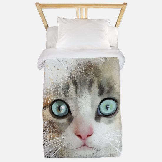 Kitten Painting Twin Duvet