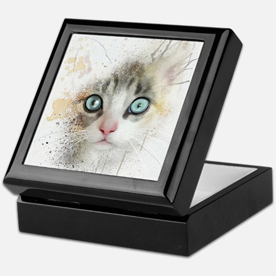 Kitten Painting Keepsake Box