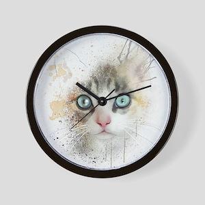Kitten Painting Wall Clock