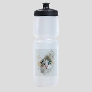 Kitten Painting Sports Bottle