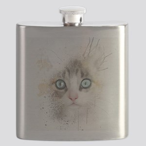 Kitten Painting Flask