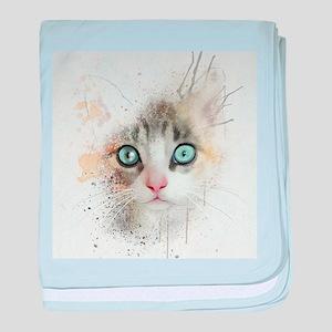 Kitten Painting baby blanket