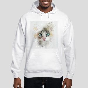 Kitten Painting Hoodie