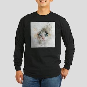 Kitten Painting Long Sleeve T-Shirt