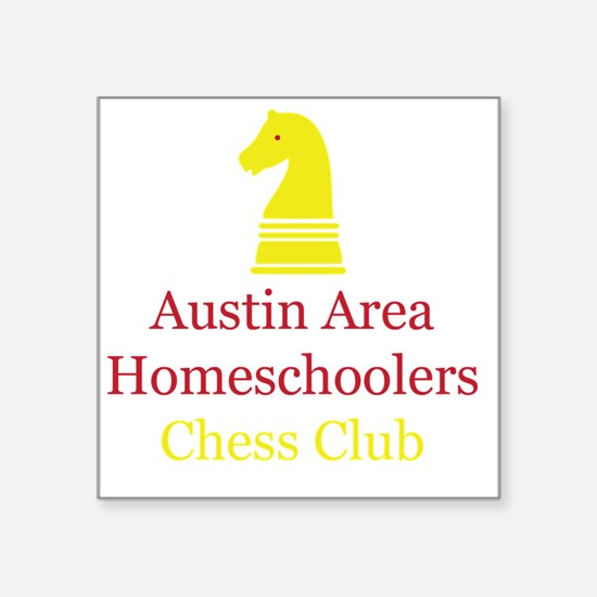 "Cute Chess logo Square Sticker 3"" x 3"""