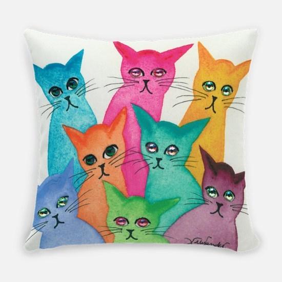 Cute Cat eyes Everyday Pillow
