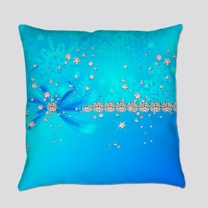 Frozen Snowflakes Everyday Pillow