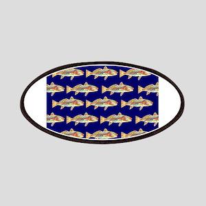 redfish bright blue pattern Patch