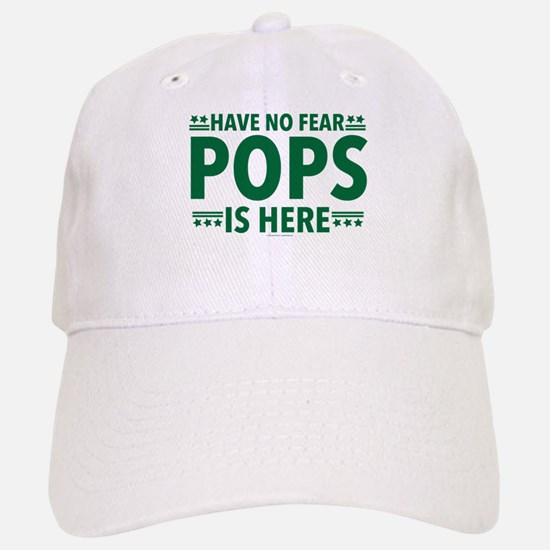 Pops Is Here Baseball Baseball Cap