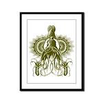 King Squid Framed Panel Print