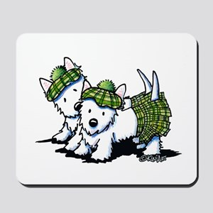 KiniArt Westie Kilted Duo Mousepad