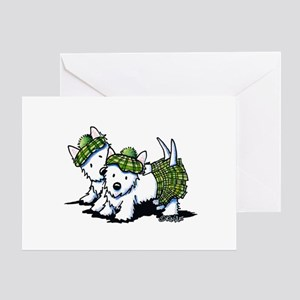 KiniArt Westie Kilted Duo Greeting Card