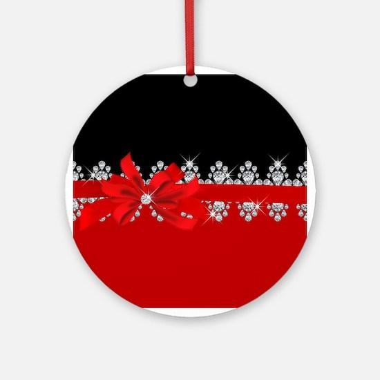 Diamond Delilah (Red) Round Ornament