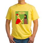 Santas Bad Advice Yellow T-Shirt
