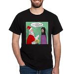 Santas Bad Advice Dark T-Shirt
