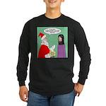 Santas Bad Advice Long Sleeve Dark T-Shirt