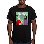 Santas Bad Advice Men's Fitted T-Shirt (dark)