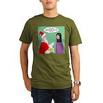 Santas Bad Advice Organic Men's T-Shirt (dark)