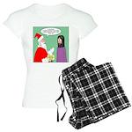 Santas Bad Advice Women's Light Pajamas