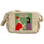 Santas Bad Advice Messenger Bag