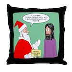 Santas Bad Advice Throw Pillow