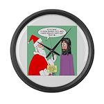 Santas Bad Advice Large Wall Clock