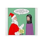 Santas Bad Advice Throw Blanket
