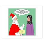 Santas Bad Advice Small Poster