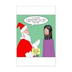 Santas Bad Advice Mini Poster Print
