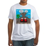 Underwater Christmas Fitted T-Shirt