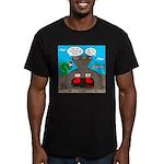 Underwater Christmas Men's Fitted T-Shirt (dark)