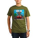 Underwater Christmas Organic Men's T-Shirt (dark)