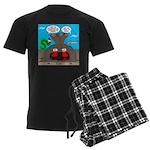 Underwater Christmas Men's Dark Pajamas