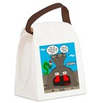 Underwater Christmas Canvas Lunch Bag