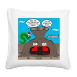 Underwater Christmas Square Canvas Pillow