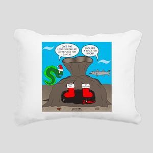 Underwater Christmas Rectangular Canvas Pillow