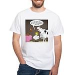 Farm Animal Menu Issues White T-Shirt