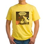Farm Animal Menu Issues Yellow T-Shirt