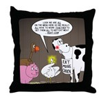 Farm Animal Menu Issues Throw Pillow