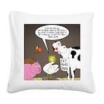 Farm Animal Menu Issues Square Canvas Pillow