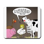 Farm Animal Menu Issues Mousepad