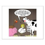 Farm Animal Menu Issues Small Poster