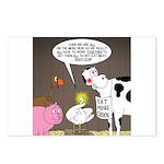Farm Animal Menu Issues Postcards (Package of 8)