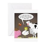 Farm Animal Menu Issues Greeting Cards (Pk of 10)